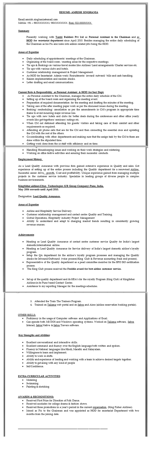 before resume builder original resume